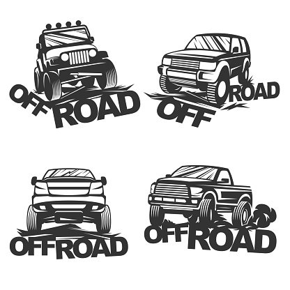 Offroad Set Emblems premium clipart.