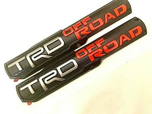 Details about 2PC TRD OFFROAD LOGO FRONT DOOR BADGE EMBLEM FIT TOYOTA  4RUNNER TACOMA 15.