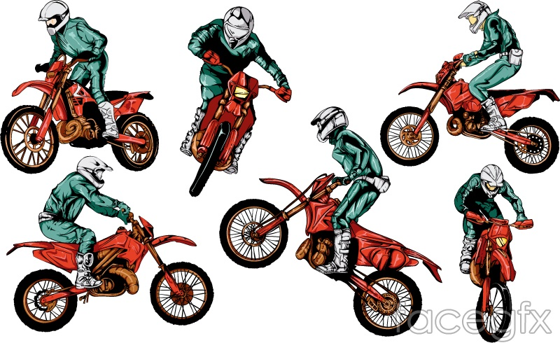 Off road bike clipart.