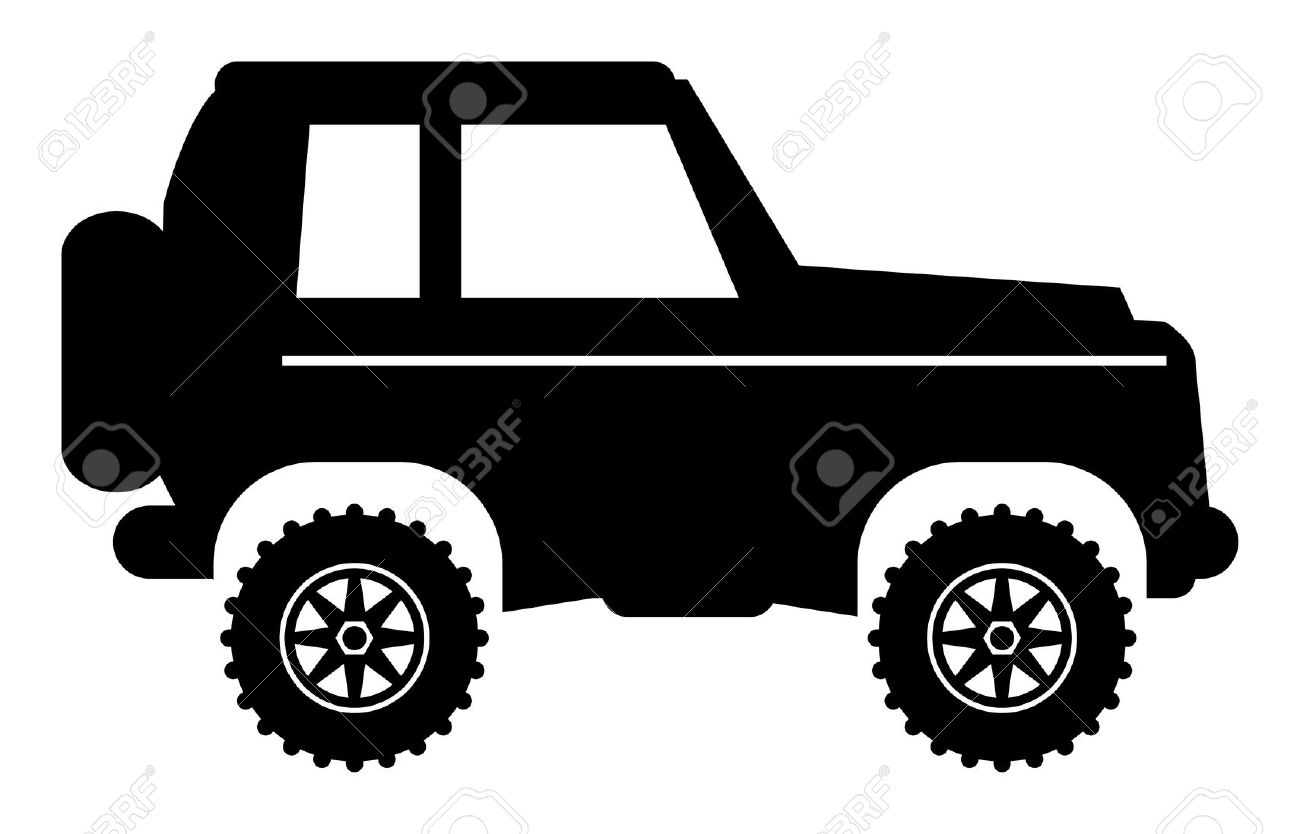 Off road vehicles clipart.