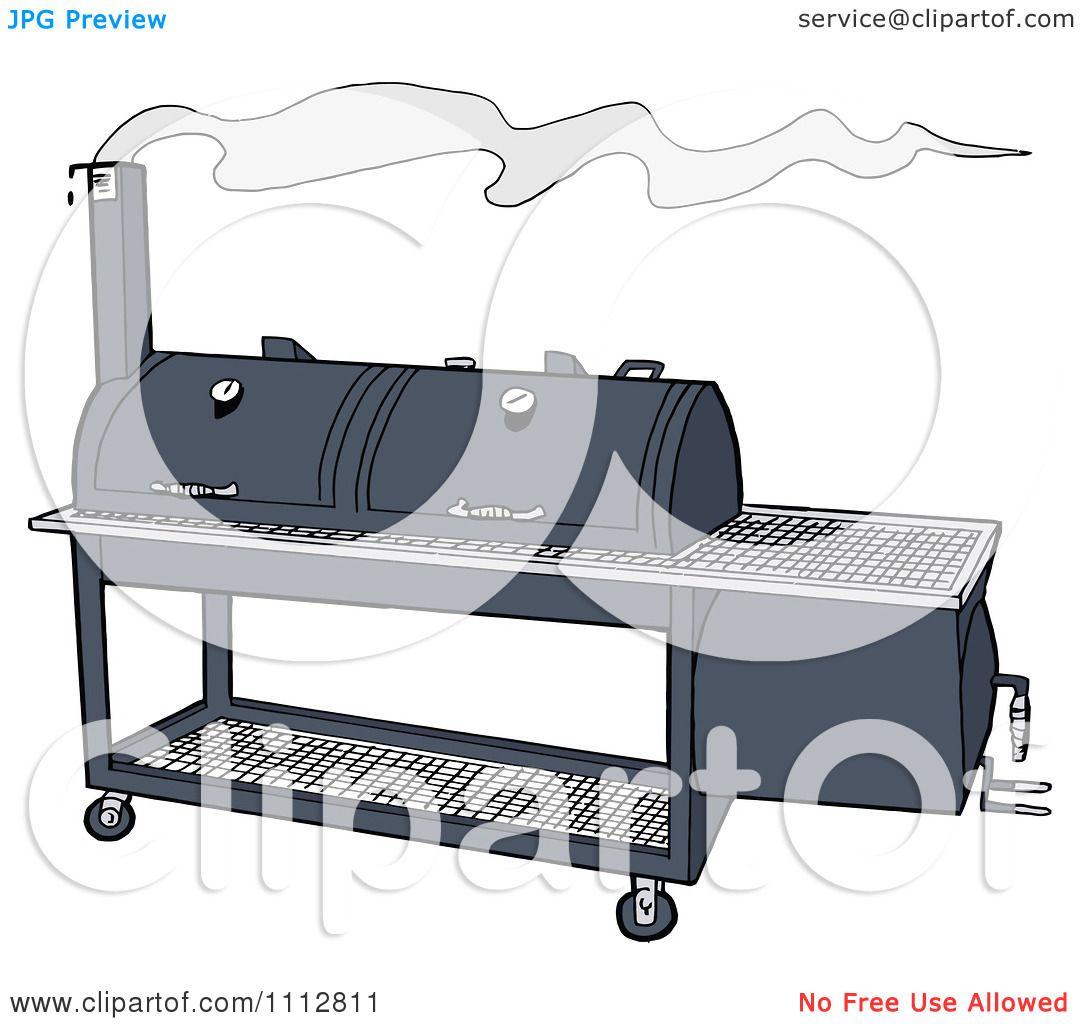 Offset BBQ Smoker Clip Art.