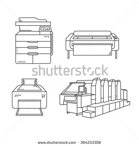 Printer Stock Images, Royalty.