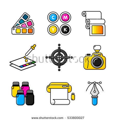 Cmyk Printing Stock Photos, Royalty.