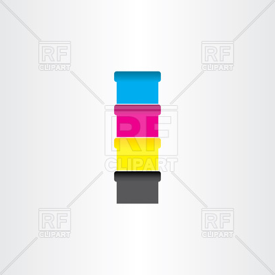 Offset printing color cans icon Vector Image #103117.