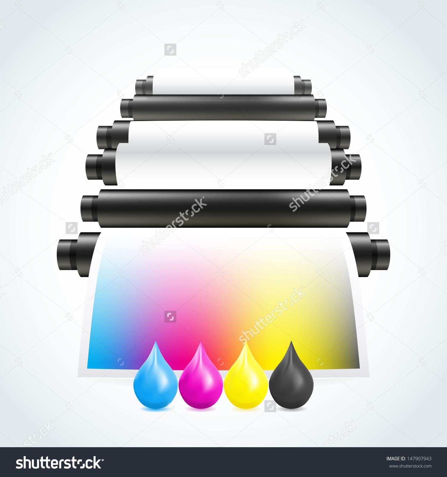 Printing Machine Stock Vector 147907943.