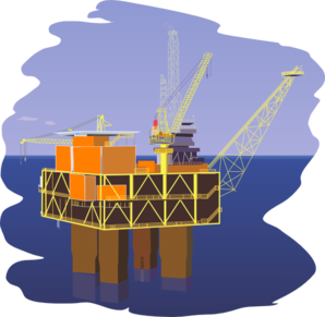 Offshore oil rig clipart.