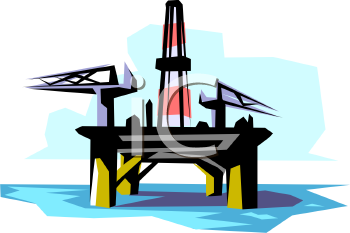 Drilling Platform on an Offshore Oil Well.