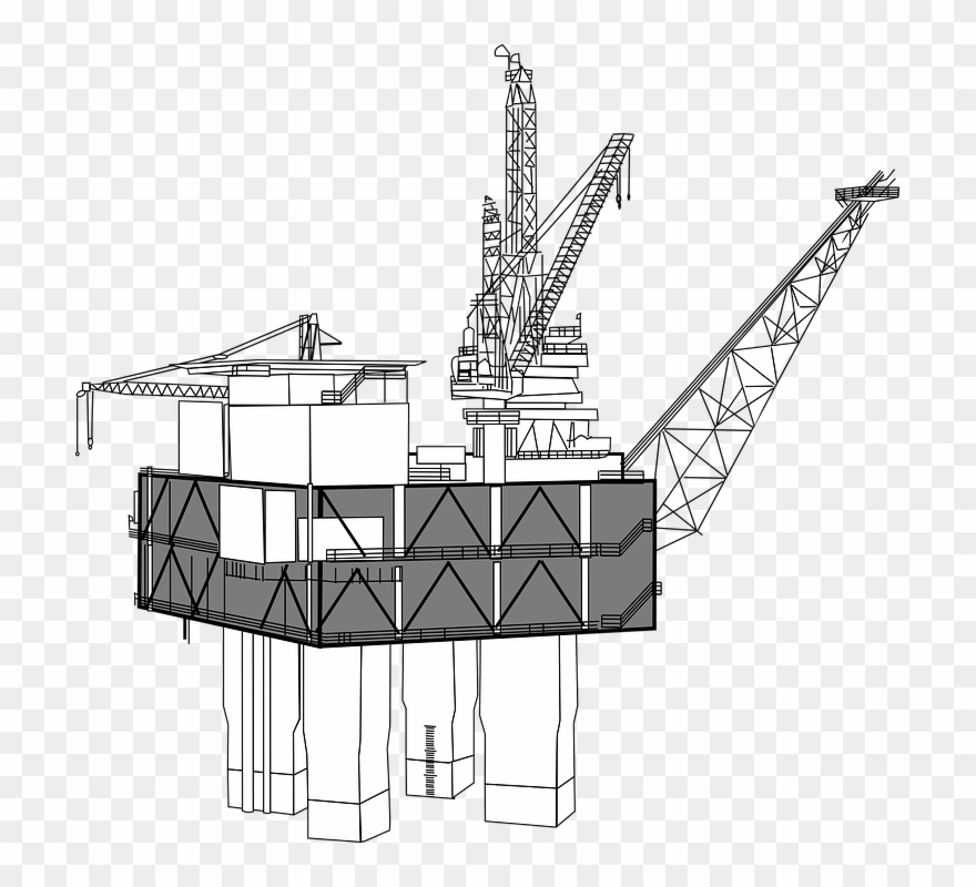 Oil Rig, Drilling, Offshore, Oil, Platform, Derrick.