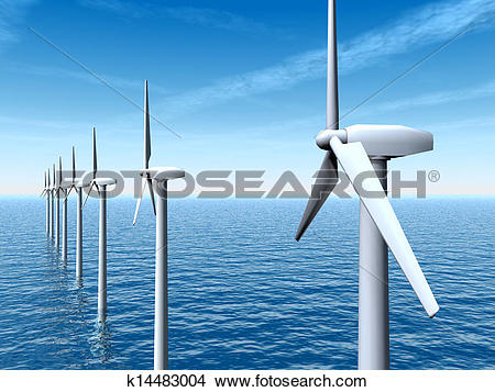Drawings of Offshore Wind Farm k14483004.