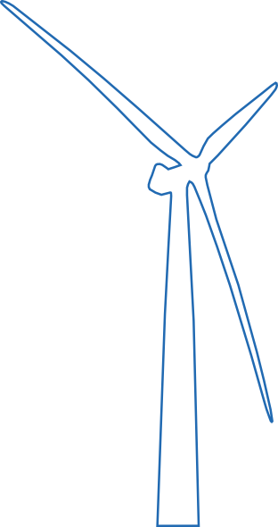 Wind Turbine Offshore White Clip Art at Clker.com.