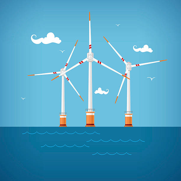 Offshore Wind Farm Clip Art, Vector Images & Illustrations.