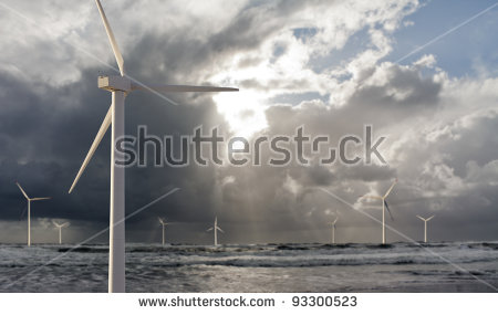 Offshore Wind Farm Stock Photos, Royalty.