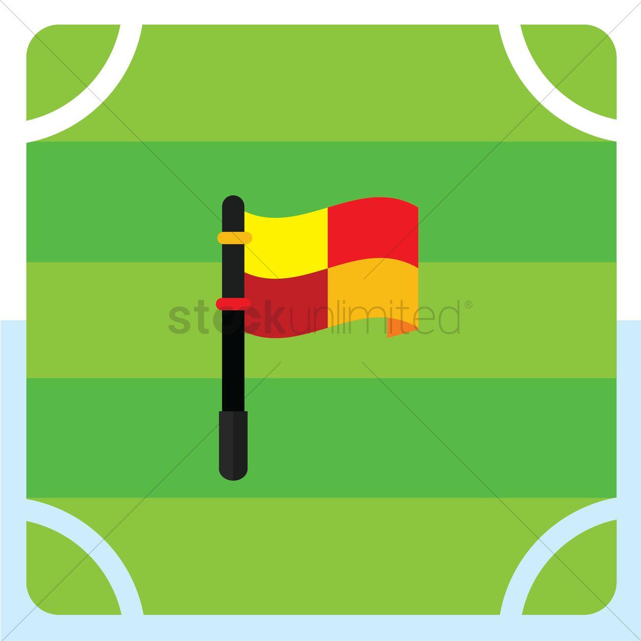 Offside flag Vector Image.