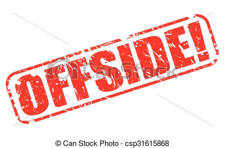 Clip Art Vector of OFFSIDE red stamp text on white csp31615868.