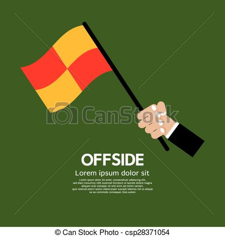 Clipart Vector of Offside Football..