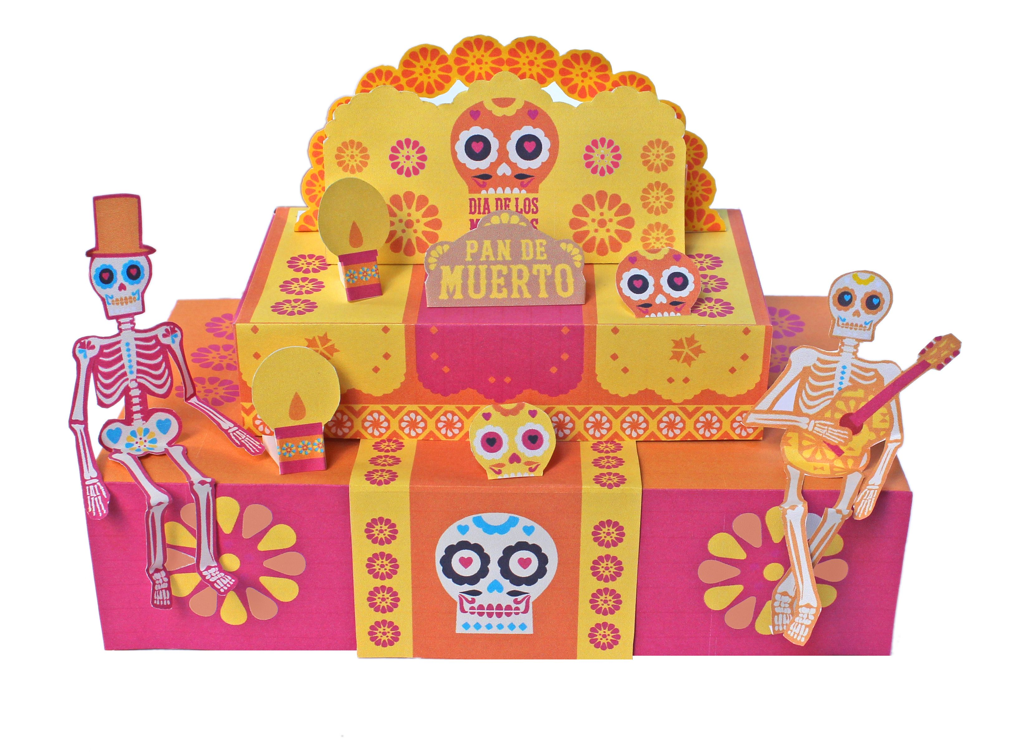 printable Day of the Dead ofrenda by Happythought www.