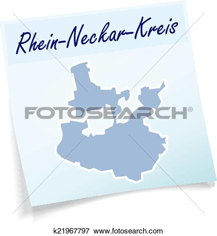 Clip Art of Map of Rhein.