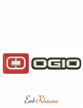 Ogio Logo embroidery design.