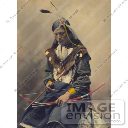 Stock Photo of a Native American Named Bone Necklace, Council.