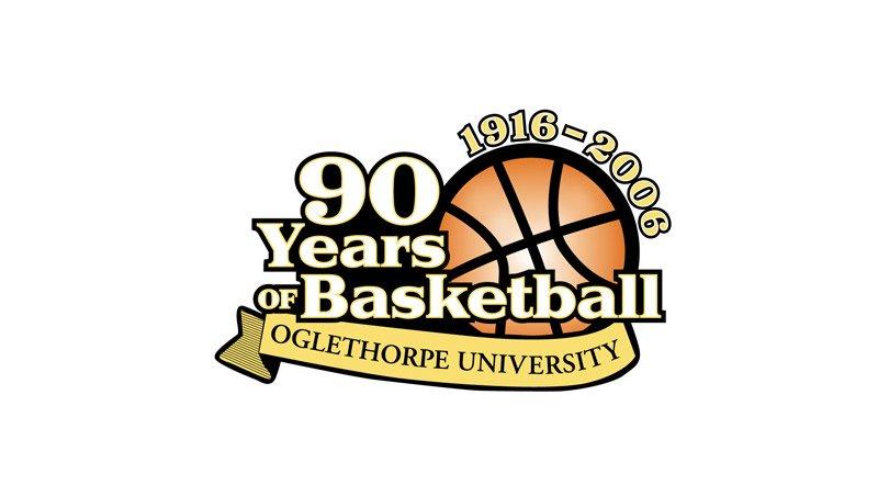 Oglethorpe University 90 Years of Basketball Logo.