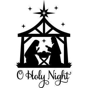 Silhouette Design Store: o holy night nativity.
