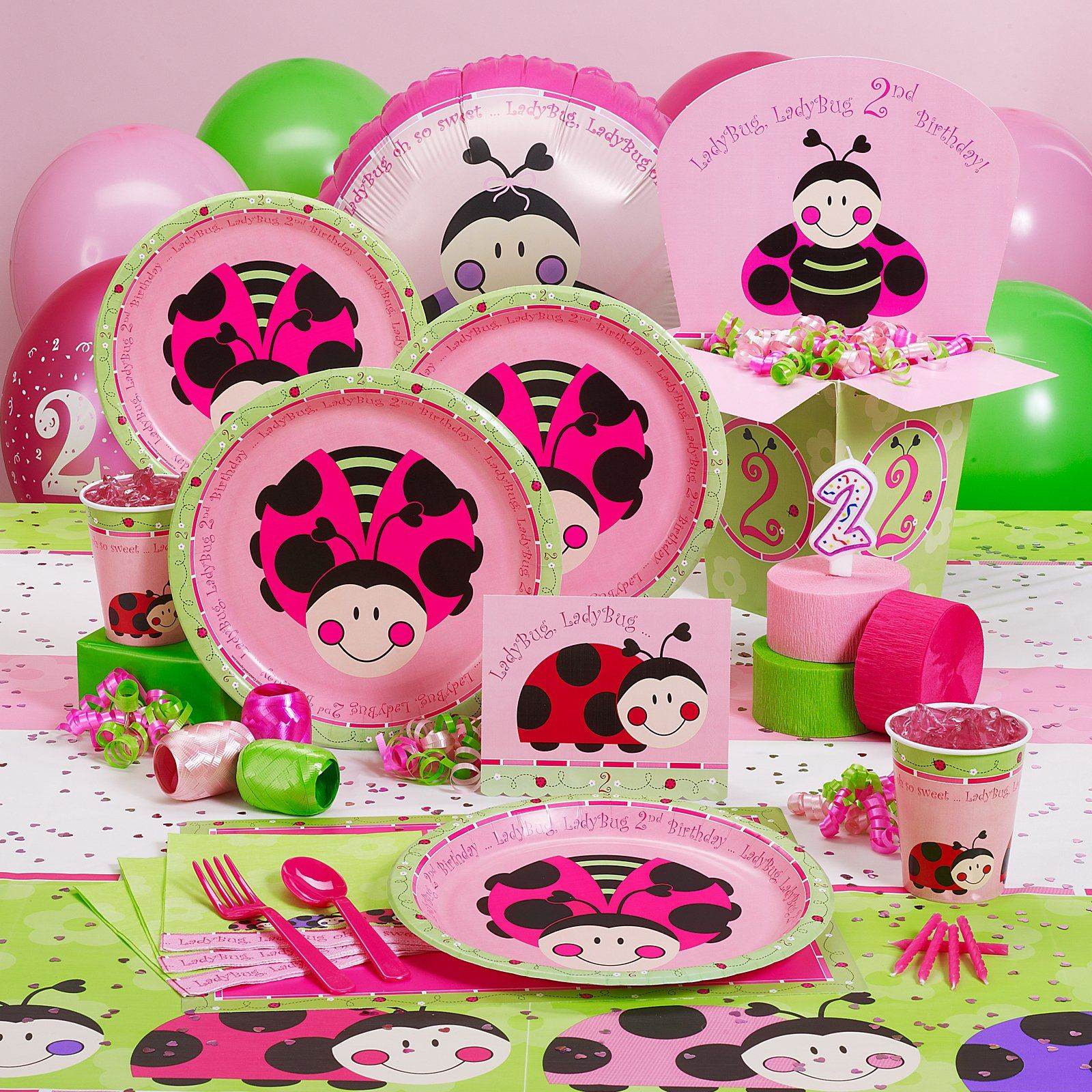 Ladybugs: Oh So Sweet 2nd Birthday Party Supplies.