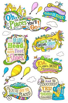 Eureka, Dr. Seuss Oh, the Places You\'ll Go! Bulletin Board.