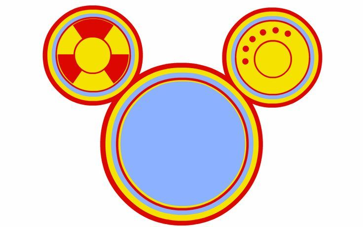 Mickey Mouse Toodles Template.