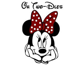 Minnie Mouse Oh TWODLES SVG File For Personal or Commerical.
