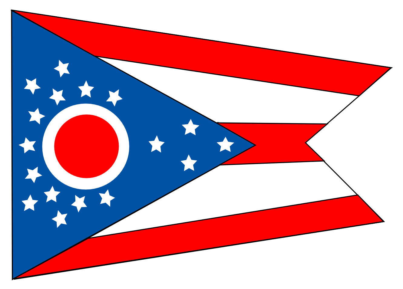 Ohio state flag clipart.