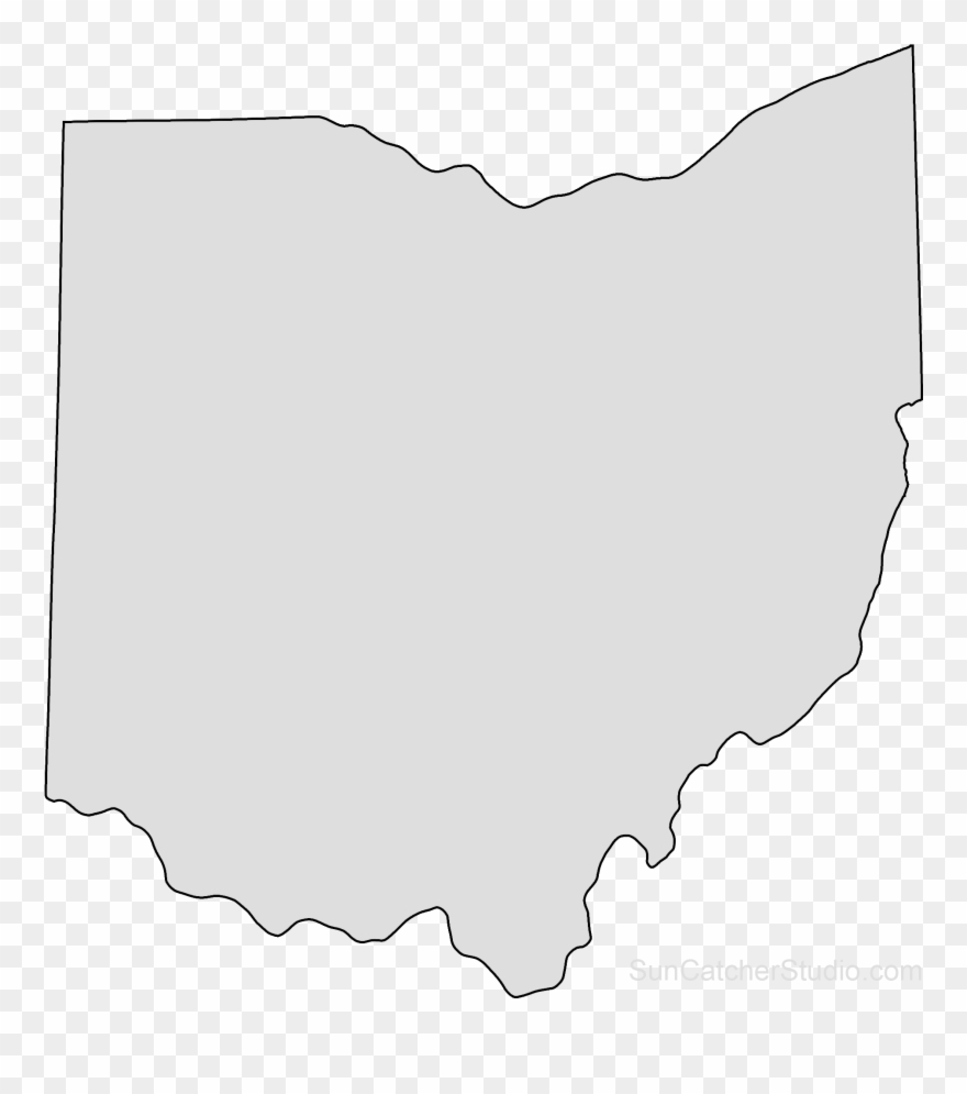 Ohio Map Outline Png Shape State Stencil Clip Art Scroll.