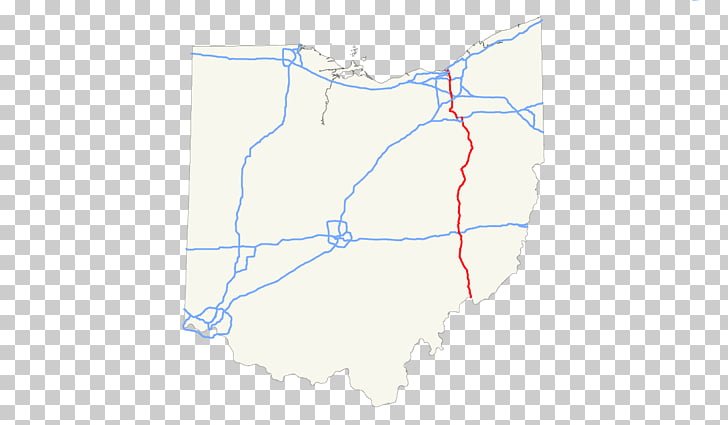 Ohio Map Line, map PNG clipart.