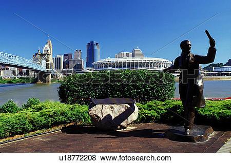 Pictures of Cincinnati, OH, skyline, bridge, Ohio, Downtown.