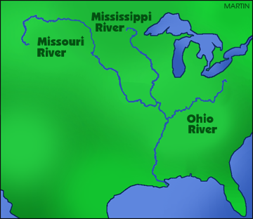 Misouri river water clipart.