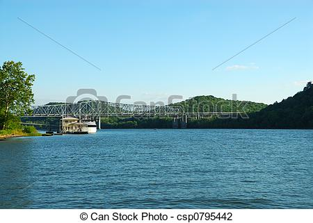 Stock Photo of Bridge Over The Ohio River.