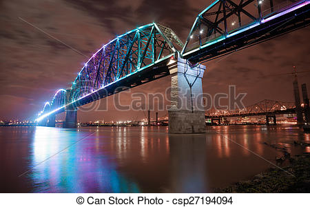 Stock Photographs of Reclaimed Railroad Tressle Big Four Bridge.