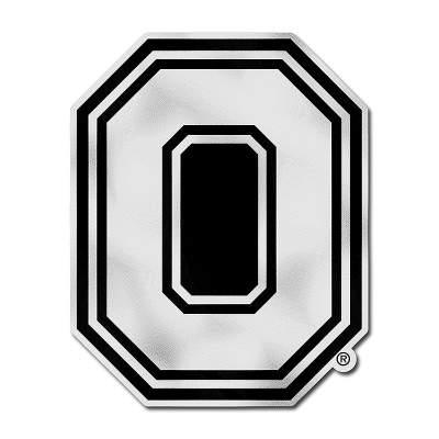 Large Metallic Ohio State Block O Logo Decal.