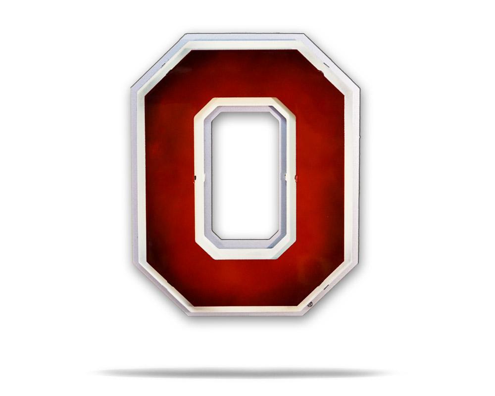 Ohio State University Block O Logo 3D Metal Artwork.