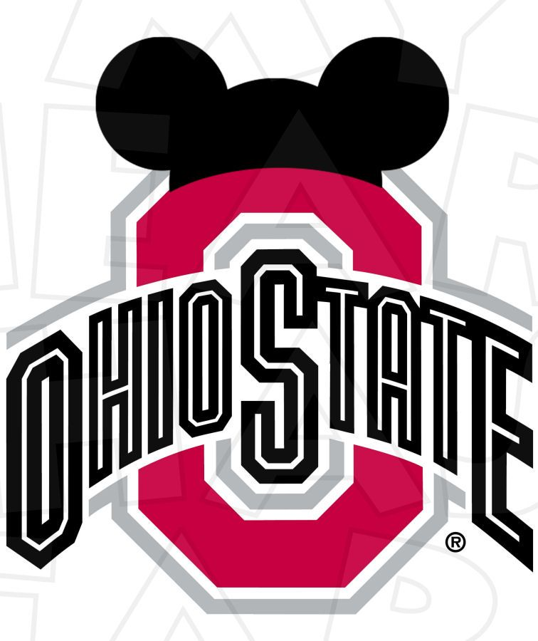 OSU football with Mickey Ears INSTANT DOWNLOAD digital clip.