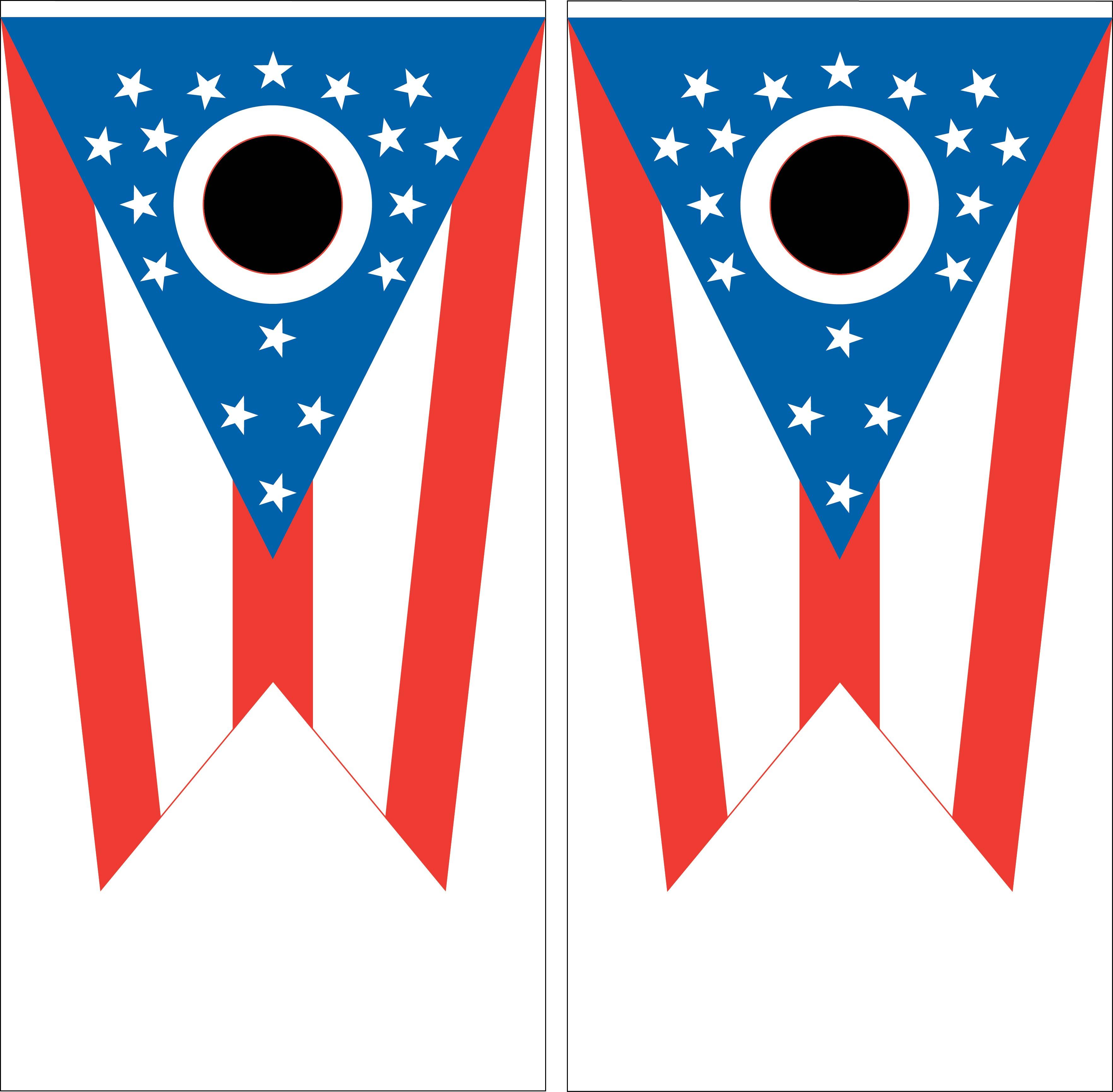 Ohio State Flag Cornhole Wraps.
