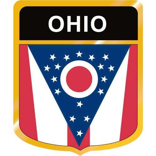 Ohio Flag Crest Clip Art.