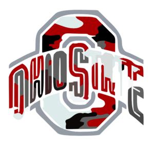 Ohio State Logo Camo clip art.