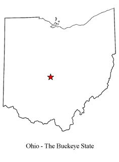 Outline Map Of Ohio.