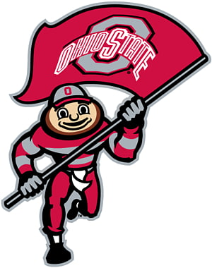Ohio State Buckeyes football transparent background PNG.