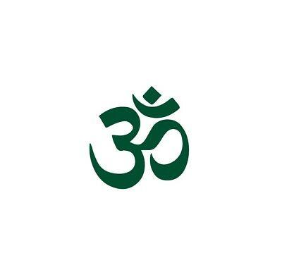 OHM AUM OM Spiritual Peace Yoga Logo Vinyl Decal Stickers.