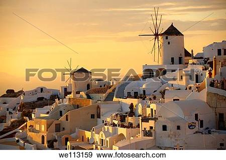 Stock Photograph of Oia Ia Santorini.