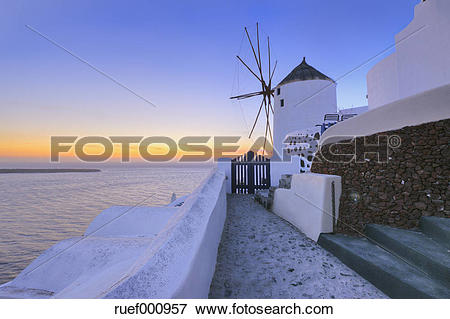 Picture of Greece, View of Oia village with traditional Greek.