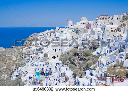 Stock Photo of Oia village, Santorini, Greece u56480302.
