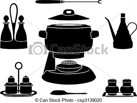 Vector Clipart of Foundue pot.