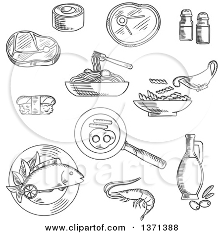 Salt And Eggs Clipart.